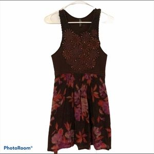 Free People Floral Print Dress Size S